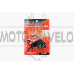Наклейка шильдик BULL (10x6см, пластик, хром) (#3547)