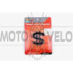 Наклейка шильдик $ (5x6см, пластик, хром) (#4690)