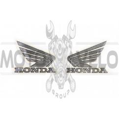 Наклейка логотип (mod:Honda 15x3см, 2шт, силикон) (#4928)