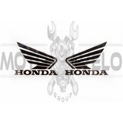 Наклейка логотип (mod:Honda 15x3см, 2шт, черный) (#1846B)