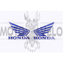 Наклейка логотип (mod:Honda 15x3см, 2шт, синий) (#1846A)