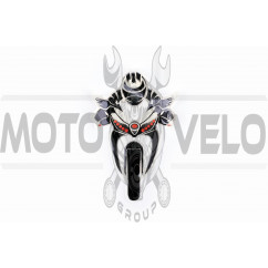 Наклейка декор MOTOANGEL (11x17см, силикон) (#5339)