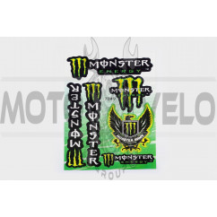 Наклейки (набор) спонсор MONSTER ENERGY (17х26см) (#7049)