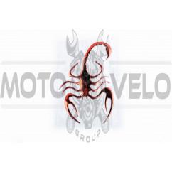 Наклейка шильдик SPIDER (8x12см, алюминий, красный) (#4733)