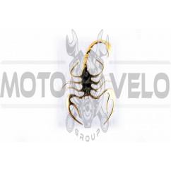 Наклейка шильдик SPIDER (8x12см, алюминий, желтый) (#4733)