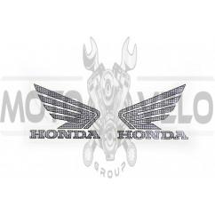 Наклейка логотип (mod:Honda 12x9см, 2шт) (#1855A)