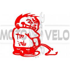 Наклейка декор TITUSHKAN (10x10см, красная) (#1428)