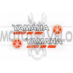 Наклейка   логотип   YMH   (14x3см, 2шт, красная)   (#6001)