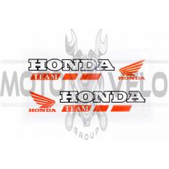 Наклейка логотип (mod:Honda 14x3см, 2шт) (#6001)