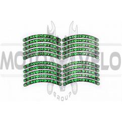 Наклейка на колесо 10 MONSTER ENERGY (12x1см, 20шт, зеленая) (#6059D)