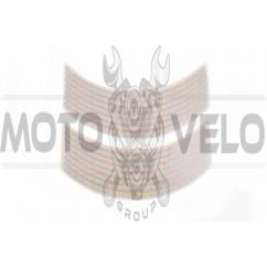 Наклейка на колесо 17 декор (16шт, серебристая) (#6065)