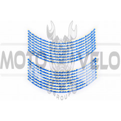 Наклейка на колесо 17 декор (16шт, синяя) (#6065)