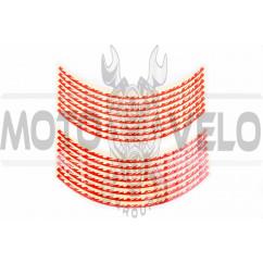 Наклейка на колесо 17 декор (16шт, красная) (#6065)