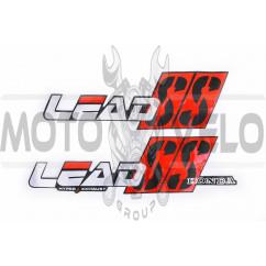Наклейки (набор) Honda LEAD SS (34х9см, 3шт) (#0657)