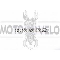 Наклейка логотип (mod:Honda 10x1см, 20шт) (#1875)