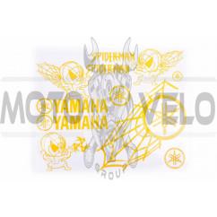 Наклейки (набор) декор YAMAHA SPIDER (35х28см, желтые)
