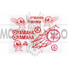 Наклейки (набор) декор YAMAHA SPIDER (35х28см, красные)