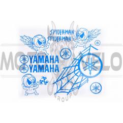 Наклейки (набор) декор YAMAHA SPIDER (35х28см, синие)