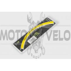 Наклейка на колесо 18 MONSTER ENERGY (желтая, светоотражающая) GJCT