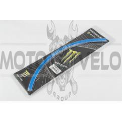 Наклейка на колесо 17 MONSTER ENERGY (синяя, светоотражающая) GJCT