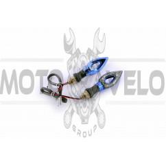 Повороты светодиодные, стрела (пара)   (mod:7) (12 LED, синие, тонированное стекло)   PLT, пара