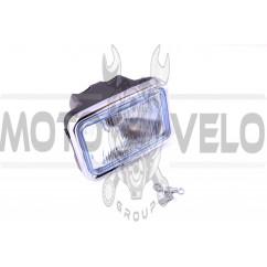 """Фара (в сборе) 4T CB125, CG125 (квадратная) (синяя) """"EVO"""""""