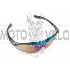 Очки спортивные KML (синие со стеклами хамелеон) (mod:WL-0008)