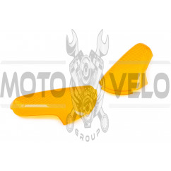 Стекло поворотов зад (пара) Suzuki LETS 1/2/3 (желтое) KOMATCU