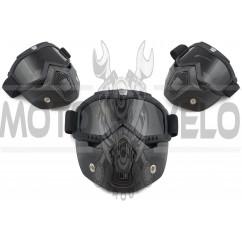 Очки кроссовые BEON (mod:211, черные матовые, тонированное стекло)