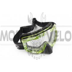 Очки кроссовые (mod:M-81A3, прозрачное стекло)