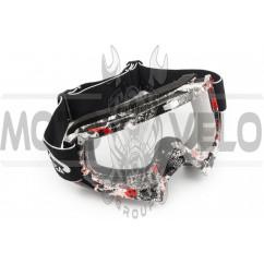 Очки кроссовые (mod:MJ-16A2, прозрачное стекло)
