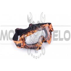 Очки кроссовые KTM (оранжевые, с прозрачным стеклом)