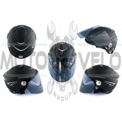 Шлем открытый (mod:SM818) (size:XL, черный) HELMO