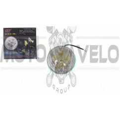 Фара светодиодная круглая (6 диодов, +подстветка) 4T CB/CG PLT