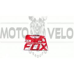 Футболка   (бело-красная size L)   FOX