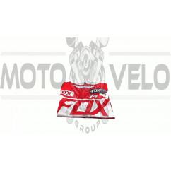Футболка   (бело-красная size M)   FOX
