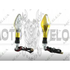Поворот светодиодный, лодочка   (15 LED, желтый, белое стекло)   JS