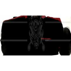 Мотокуртка   SCOYCO   (текстиль) (size:XXL, черно-красная, mod:JK34)