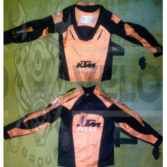 Мотокуртка   KTM   (текстиль) ( size:M, черно-оранжевая)