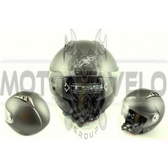 Шлем открытый (mod:545) (size:XL, белый матовый, солнцезащитные очки) LS2