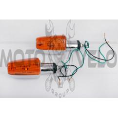 Повороты мини стреловидные (хром, желтое стекло) (mod.0127) LDR