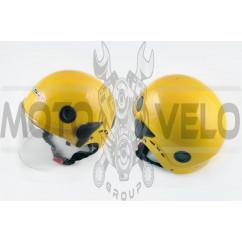 Шлем открытый (mod:101) (классическая форма, прозрачный визор) (size:XL, желтый) LS2