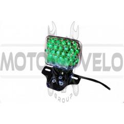 Стоп-сигнал диодный (в сборе) Delta, Alpha (22 диода, зеленый) KOMATCU