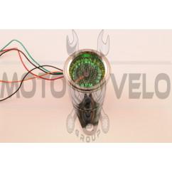 Тахометр выносной универсальный (аналоговый, хром, 16000об/мин)