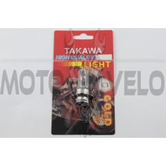 Лампа P15D-25-3 (3 уса) 12V 35W/35W (белая) (блистер) TAKAWA (mod:A)