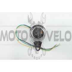 Индикатор уровня топлива выносной универсальный (цифровой, хром) (mod:MY-169) MOTOR