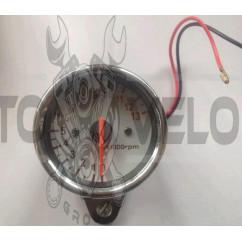 Тахометр выносной универсальный (аналоговый, хром, 16000об/мин) (mod:MY-083)
