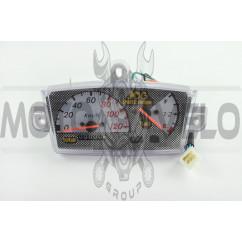 Панель приборов (в сборе) Yamaha JOG (120км/ч, серебро, sport edition) (mod:MY-214)