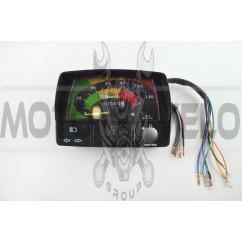 Панель приборов (в сборе) Delta (120км/ч, черная, индикатор передач) (#MY-006)