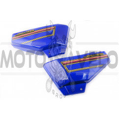 Пластик Alpha боковая пара на бардачок (синие) KOMATCU